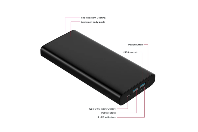 Kogan 26800 mAh Power Bank (75W) with PD and QC 3.0