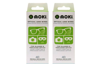 2x 40pc Moki Optical Lens Wipes Cleaner Cleaning Wet Tissue for Camera/VR/Phone