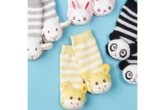 Baby Animal Rattle Socks: They Really Rattle! - Panda