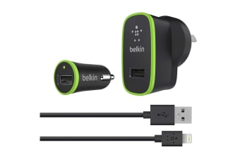 Belkin Charger Kit with Lightning to USB Cable (F8J031AU04-BLK)