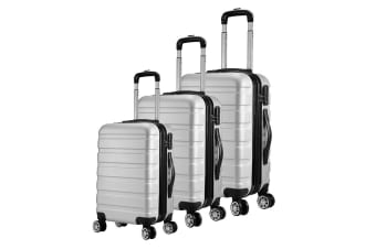 Milano Luggage XPander Series 3 Piece Set (Silver)