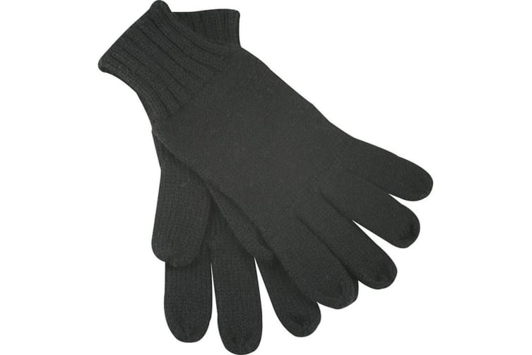 Myrtle Beach Adults Unisex Knitted Gloves (Black) (S/M)