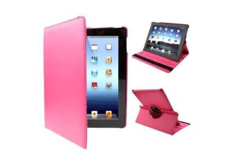 For iPad 2/3/4 Case  Rotatable Leather Durable Shielding Cover Red Plum