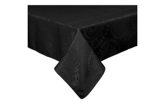 Dyani Black Tablecloth 8 to 10 Seater Oblong 150 x 260 cm