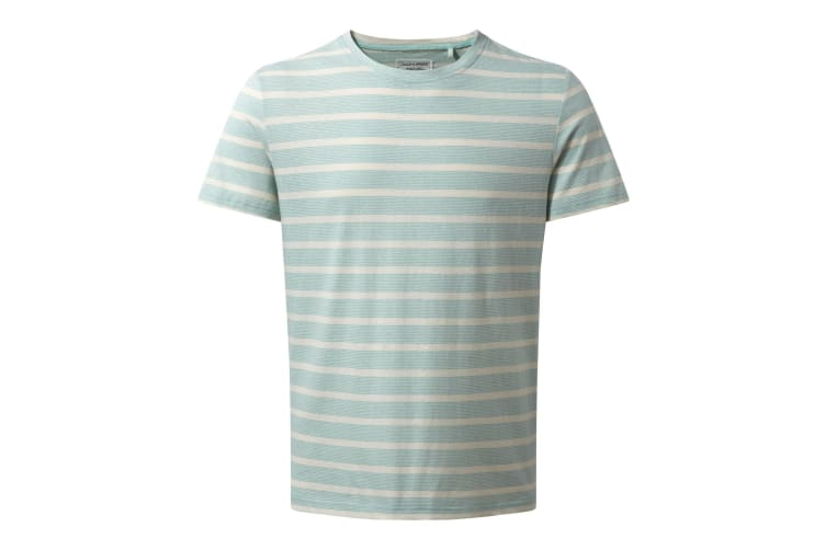 Craghoppers Mens Bernard Short Sleeve Stripe Summer T-Shirt (Light Bondi Stripe) (L)