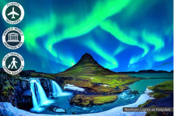 ICELAND: 10 Day Northern Lights Tour Including Flights for One or Two
