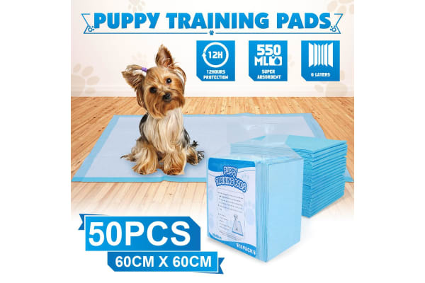 Pack of 50 Puppy Training Pads for Puppies & Indoor Dogs 60 cm x 60 cm