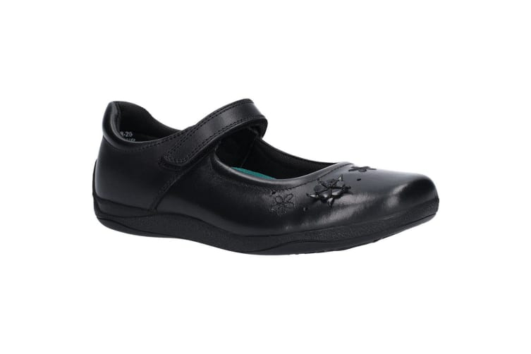 Hush Puppies Girls Candy Senior Touch Fastening Shoe (Black) (5.5 UK)