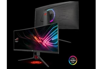 ASUS ROG STRIX XG35VQ 35' UWQHD Gaming VA Curved 100Hz Eyecare Free-Sync HAS GamePlus DP HDMI USB3.0 Game Visual TUV Certified AURA SYNC Monitor