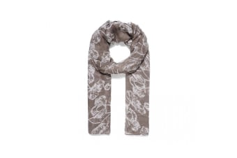 Intrigue Womens/Ladies Simple Floral Print Scarf (Grey) (One Size)