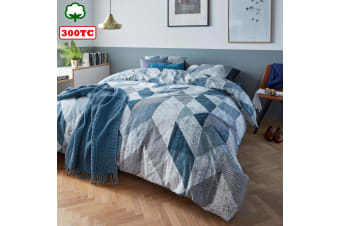 Tuur Blue Quilt Cover Set King by Bedding House