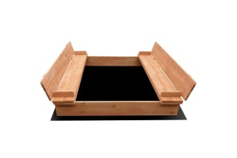 Keezi Wooden Outdoor Sandpit - Natural Wood