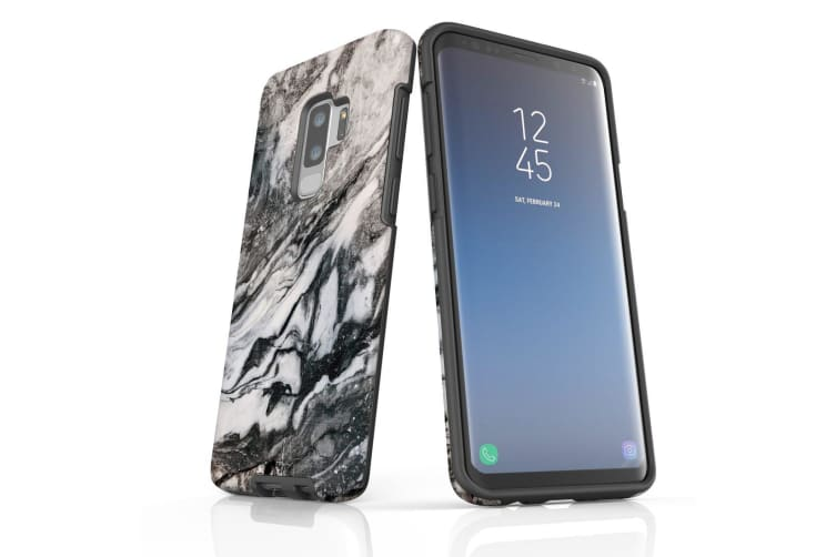 For Samsung Galaxy S9+ Plus Case  Armour Tough Cover  Marbled