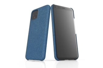 For Google Pixel 4 Snap Case Lightweight Protective Unique Cover Blue Glitter