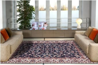 Traditional All over Design Navy Rug 230x160cm