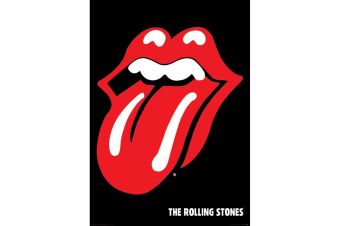 The Rolling Stones Logo Poster (Black/Red)