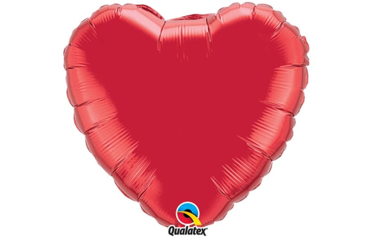 Qualatex 36 Inch Heart Shaped Plain Foil Balloon (Pearl Ivory) (One Size)