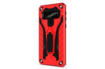 For Samsung Galaxy S10+ Plus Case  Armour Strong Shockproof Cover Kickstand  Red
