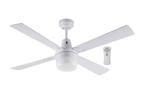 Mercator Kimberley II 1200mm Ceiling Fan with Light and Remote - White (FC132124RWH)