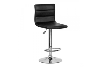 Pino PU PVC Leather Bar Stool Kitchen Chair Black