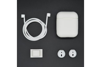 For Apple AirPods White Shockproof Cover Case Set