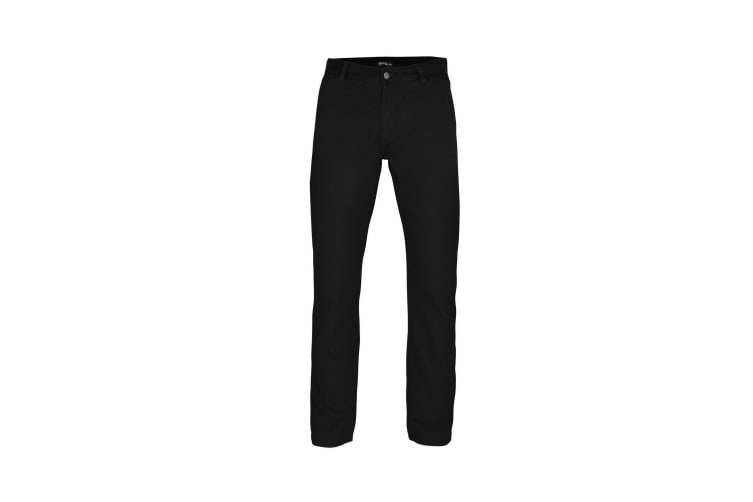 Asquith & Fox Mens Classic Casual Chinos/Trousers (Black) (2XLT)