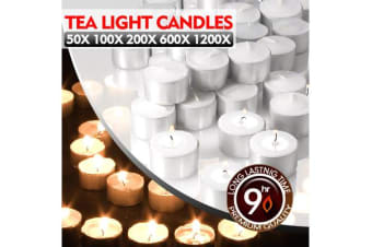 50pcs Tea Light Candles Bulk 9 Hour