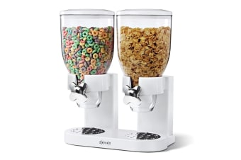 Zevro The Original Indispensable Cereal Dispenser Double - White