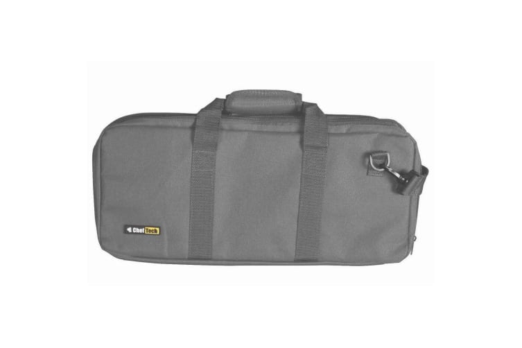 ChefTech 18 Pocket Knife Roll Storage Portable Carry Case w  Strap Handle Grey