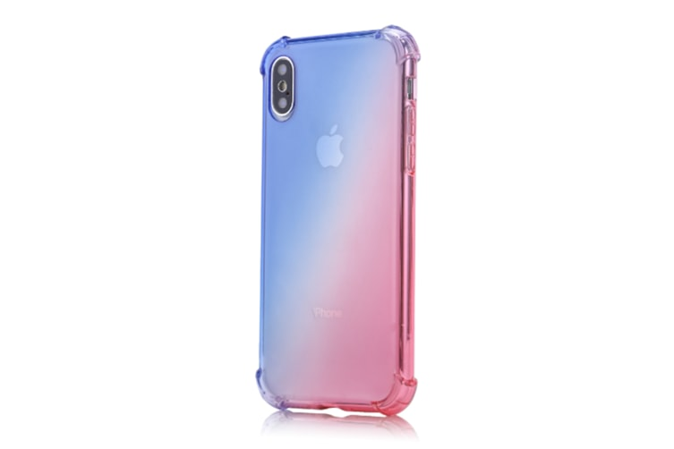 Slim Blue Pink Color Gradient Shock Absorption Protective Cases For Iphone 7/8Plus