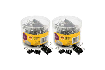 120PC Marbig Paper Fold Back/Binder Clips Assort Sizes Office/Home Use/Essential