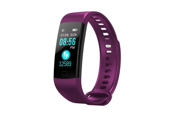 """TODO Bluetooth V4.0 Fitness Band Watch Heart Rate Blood Oxygen Ip67 0.96"""" Oled - Purple"""