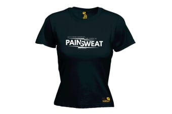 SWPS Gym Bodybuilding Tee - Accomplishments Pain Sweat - Black Womens T Shirt
