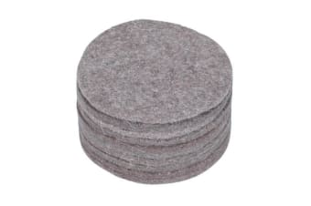 Hatchwells Canary Nest Felts (Pack Of 10) (Grey) (One Size)