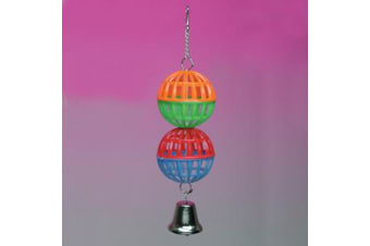 Two Latice Balls with Bell Bird Toy