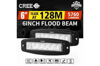 DEFEND DEFEND Pair 6 inch Cree Flush Mount Led Work Light Bar Flood Fog Lamp Reverse 4WD