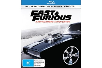 Fast & Furious 8 movie Collection Blu-ray Region B