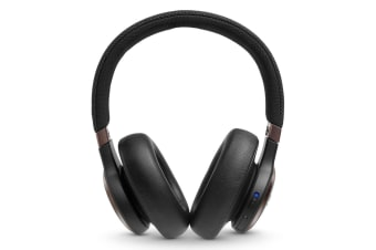 JBL Live 650BTNC Wireless On-Ear Noise-Cancelling Headphones - Black