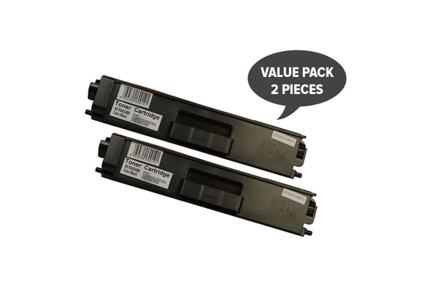 TN-340 Black High Yield Generic Toner (Two Pack)
