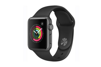 Apple Watch Series 1 (42mm, Space Gray, Black Sport Band)