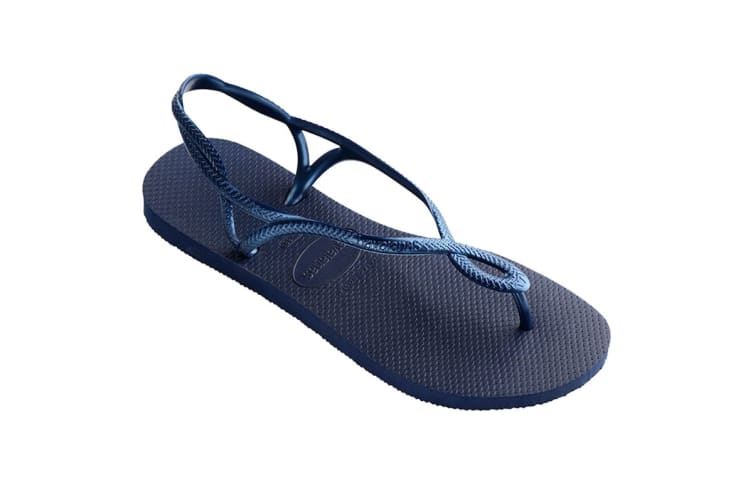 Havaianas Luna Thongs (Navy Blue, Size 35/36 BR)