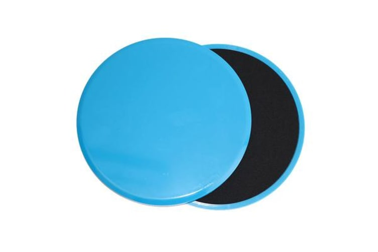 Core Sliders Gliding Discs Exercise Gym Fitness Foam Circle Pad Pair Blue