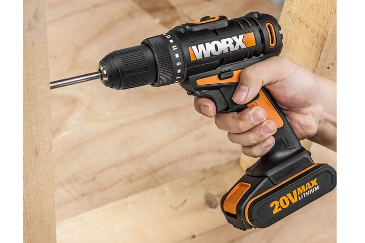 WORX 20V 10mm Drill-Driver - Skin Only (WX170.9)