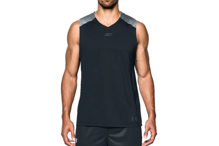 Under Armour Men's SC30 Sleeveless Tank (Black, Size Large)