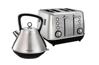 Morphy Richards Evoke Toaster & Kettle Pack - Stainless Steel (104409-240109)