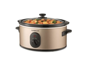 Kambrook 4.5L Multi-Setting Slow Cooker KSC450 w/ Cooking Bowl/Lid Champagne