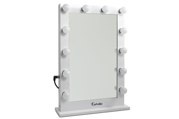 Make Up Mirror Frame with LED Lights 65x60cm (White Frame) - Kogan.com