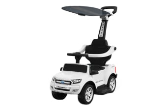 Ford Ranger Ride-On Kids Car Stroller (White)
