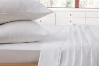 Ardor 1000TC Luxury Sheet Set White (King/White)
