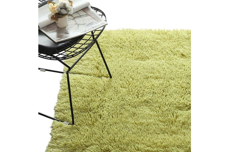 Designer Soft Shag Shaggy Floor Confetti Rug Carpet Home Decor 80x120cm Green